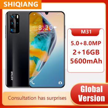 Globalna wersja smartfony z systemem Android M31 telefony komórkowe 6 3 Cal 2 + 16GB Face ID Unlocked 5MP + 8MP telefony komórkowe 5600mAh telefon tanie i dobre opinie SOYES Nie odpinany Inne CN (pochodzenie) Rozpoznawania linii papilarnych Rozpoznawania twarzy Nonsupport english Rosyjski
