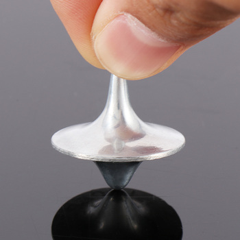New Arrival Hot Sale Metal Gyro Great Accurate Silver Spinning Top Movie Totem Print new and high quality