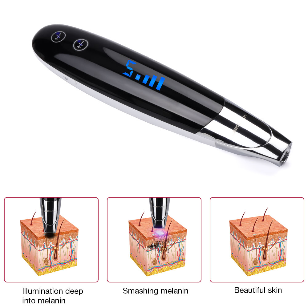 foreverlily Tattoo Removal Picosecond Laser Pen  Freckle Tattoo Removal Pen Freckle Mole Dark Spot Eyebrow Pigment Acne Tools