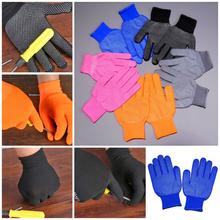 One Dozen Nylon Beaded Gloves 12 Pair Non-slip Breathable Wear-resistant Dust proof Glove for Working