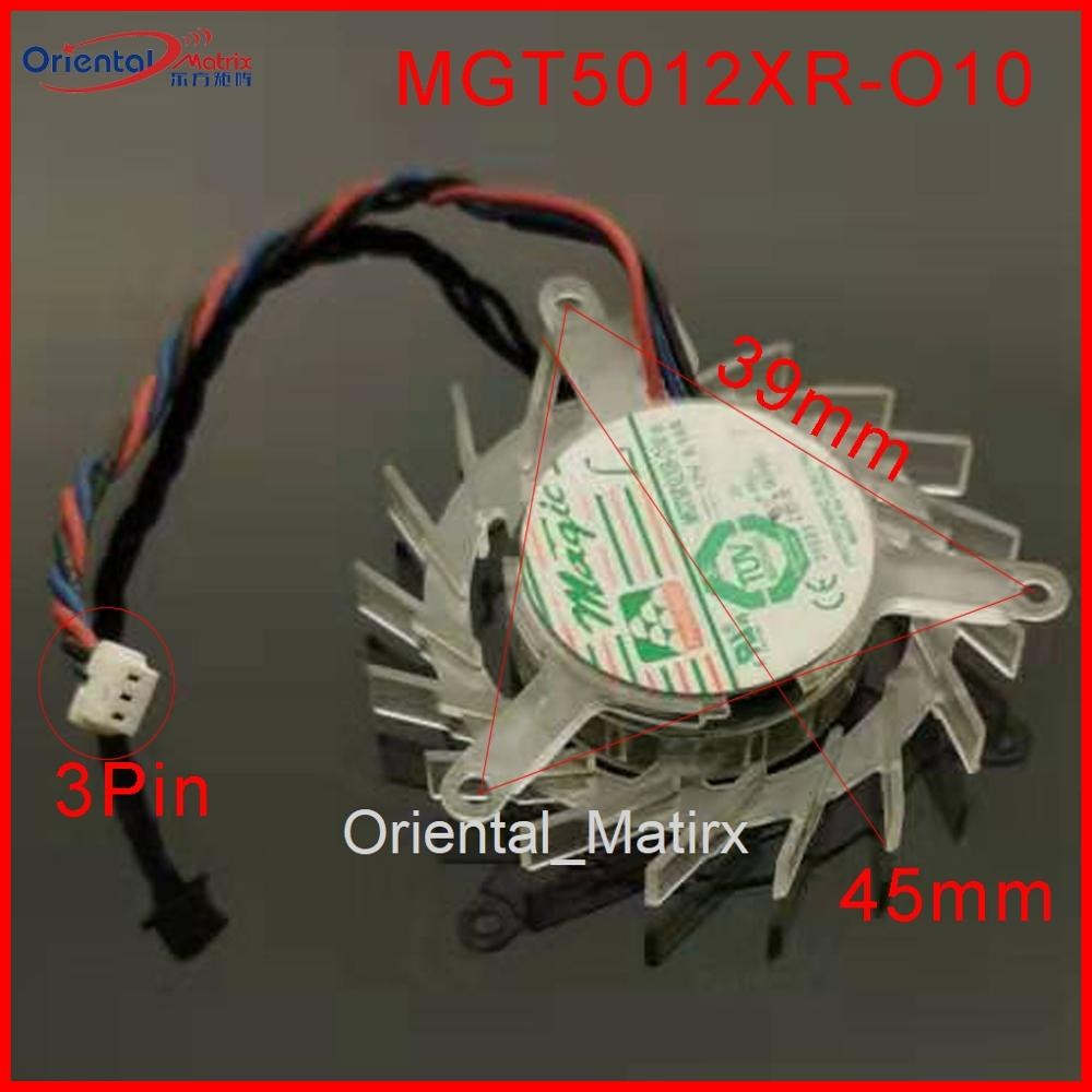 45mm ATI Radeon VGA Video Card Fan Replacement 39mm x 39mm x 39mm 2Pin 12V 0.08A