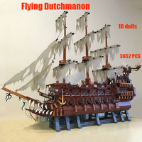 The Flying Dutchman MOC 16016 Model LepinBlocks Movie Series Pirates Of Caribbean Ships Building Blocks Toys with kids toys gift