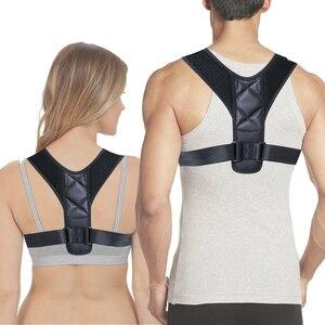 Image 2 - 20pcs/lot Brace Support Belt Adjustable Back Posture Corrector Clavicle Spine Back Shoulder Lumbar Posture Blet Correction