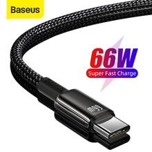 Baseus 6A Cáp USB Type C Cho Huawei P40 Pro Giao Phối 40 30 Siêu Bền 66W/40W Nhanh sạc Cáp USB C Cho Huawei P30 Pro