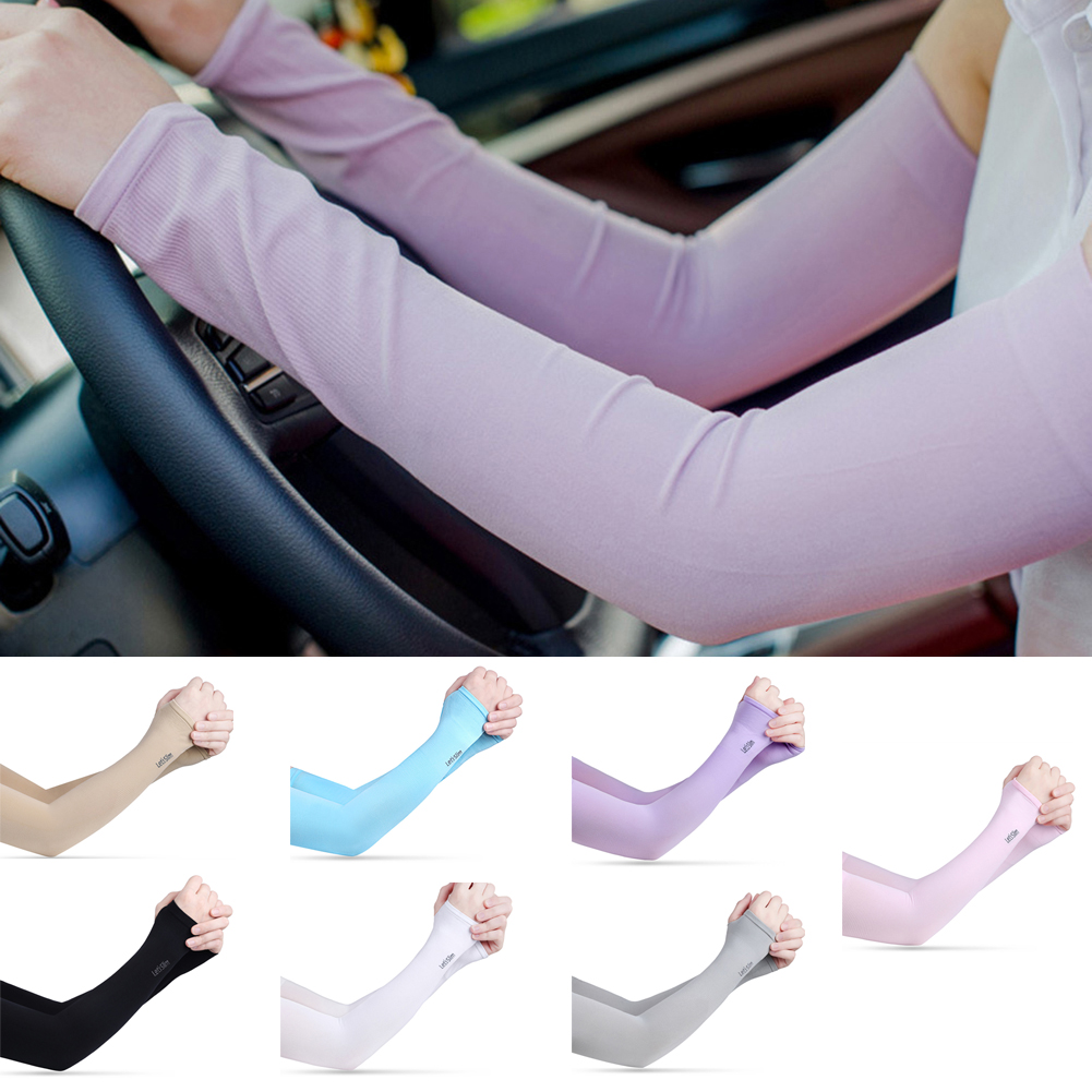 1 Pair Men Women Arm Sleeves Summer Sun UV Protection Ice Cool Cycling Running Fishing Climbing Driving Arm Cover Warmers