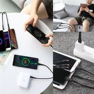 Image 4 - Kaya Hi Tensile Metal örgülü 6 in 1 şarj kablosu 2M aydınlatma C tipi mikro hızlı şarj kablosu iPhone için X 8 7 6 Xiaomi Samsung