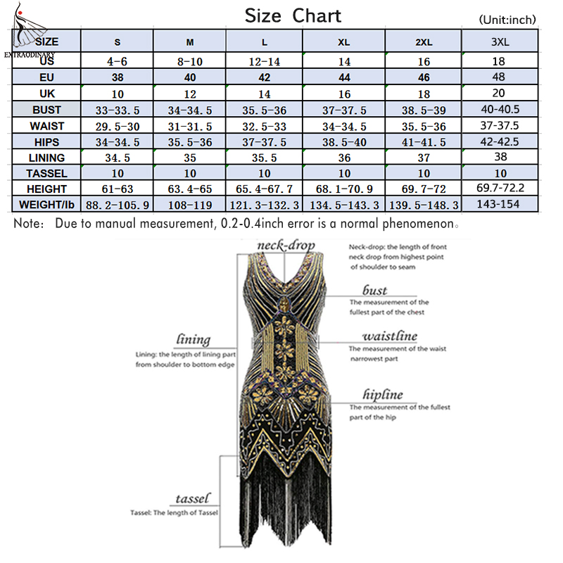 Image 5 - Women 1920 s Vintage Great Gatsby Dress Sequins Dress V Neck Tassels Bodycon Beaded Party Dress Flapper Dresses Art Deco Double-in Dresses from Women's Clothing