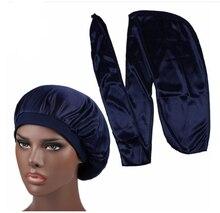 Men Silk Durag Match Silk Bonnet for Women Same Color Silky Durag Bandanas for Men Long Tail Durags Wave Cap Sleep Cap