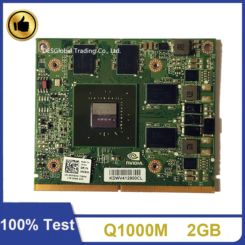Quadro 1000M Q1000M N12P-Q1-A1 2GB Video Graphic VGA Card For Dell M4600 M4700 HP 8540W 8560W 8570W 8770W Working Perfectly