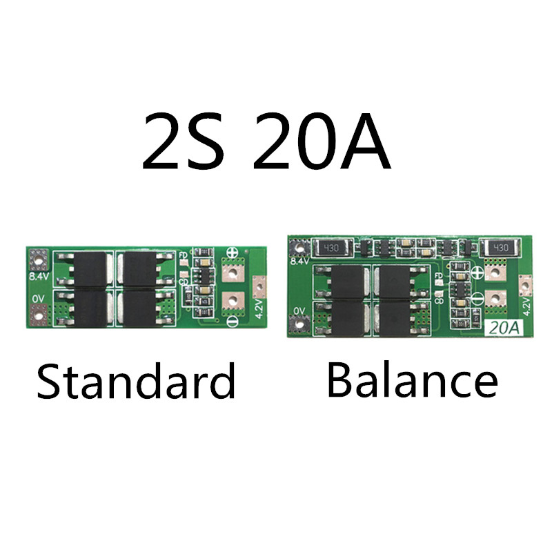 2S 20A 7.4V 8.4V 18650 Lithium Battery Protection Board/BMS Board Standard/balance