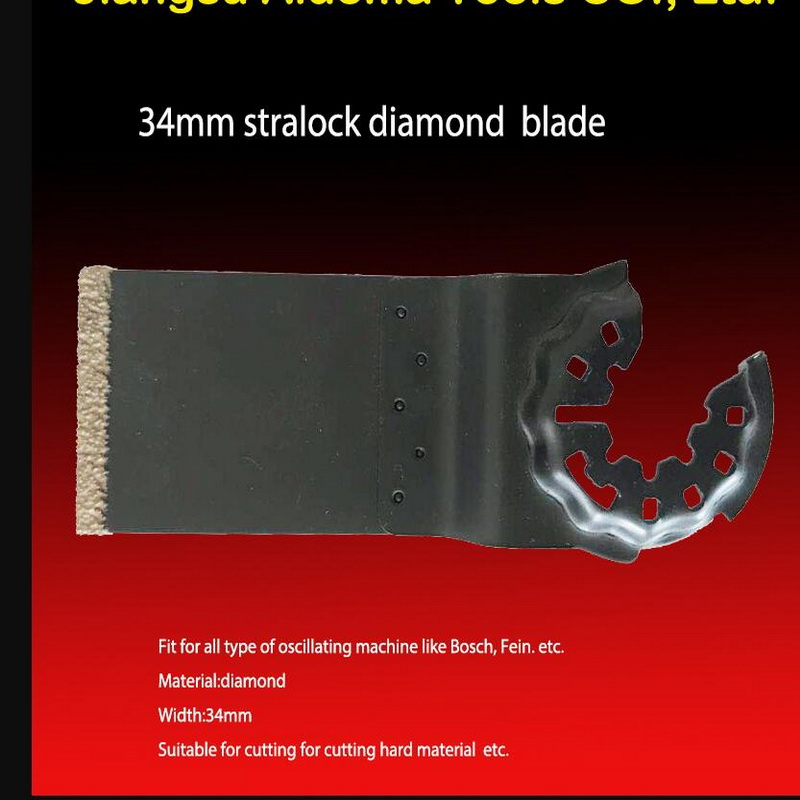 Free Shipping Of 34mm Quick Release Brazed Saw Blade For Most Of Brands Multifunctional Oscillating Tools Tile Work Using