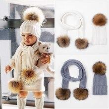 Tinpeople 2020 아기 모자 양모 겨울 모자 어린이를위한 아기 소년 스카프 소녀 모자 따뜻한 신생아 사랑스러운 모자 유행 스카프 모자