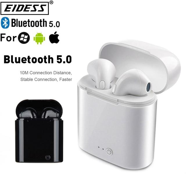 i7s TWS Wireless Earpiece Bluetooth 5.0 Earphones Headphones  Earbuds Headset Earphone For smart Phone Xiaomi Samsung Huawei 1