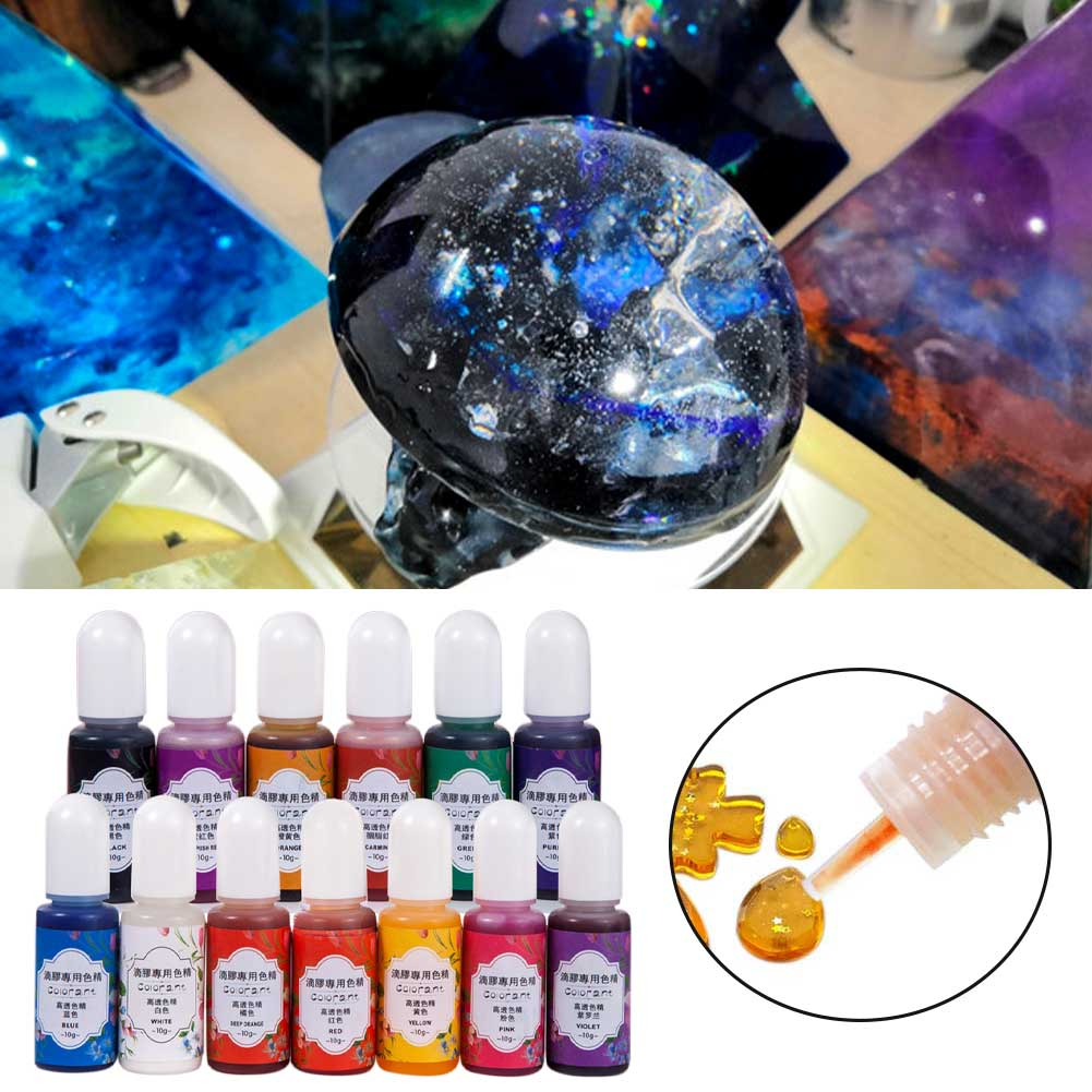 UV Epoxy Resin Pigment Highly Concentrated Home Dye Jewelry Making Odorless 13 Colors Portable DIY Crafts Colorant Liquid 1
