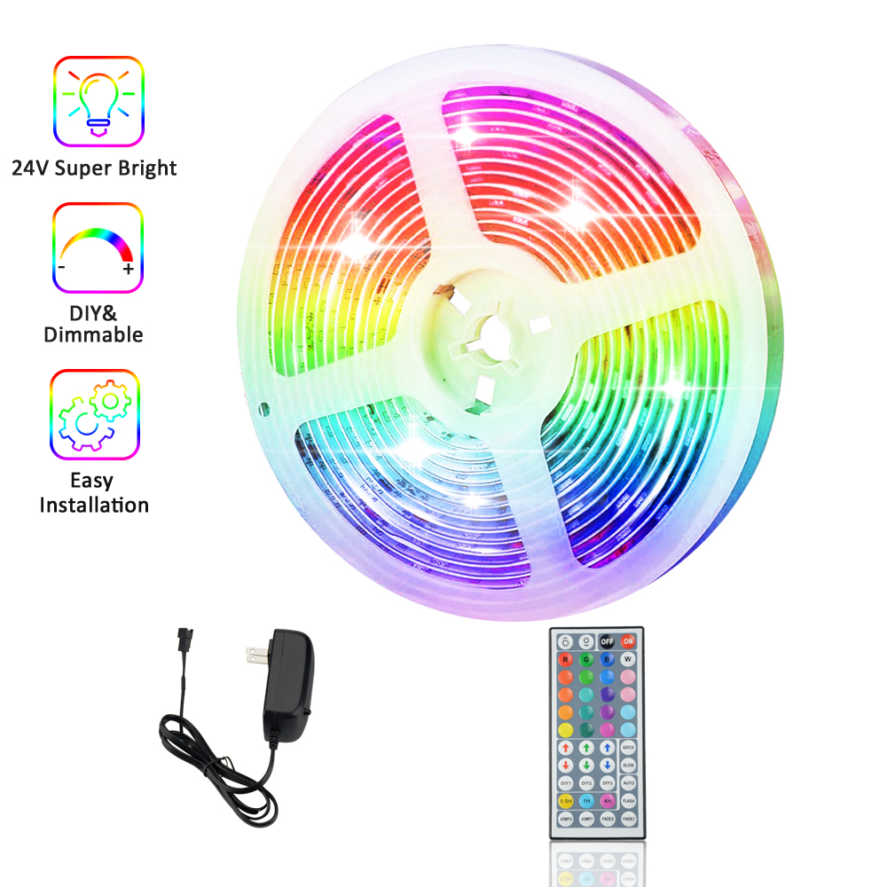 RGB LED Strip Light AC85-265V Smart Led Strip Wifi 5M 10M 15M 20M 5050 Flexible Tape Led Diode DC12V 24V Timing Home Decoration