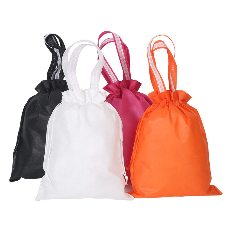 Non-woven Portable Shoes Bag Dustproof Double Drawstring Environmental Bag Small Sports Outdoor Unisex Drawstring Bag