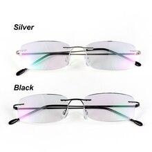 Health Care Reading Glasses For Elder Rimless Ultra-light Memory Titanium Eyeglasses Magnetic Rectangular Eyewear Accessories
