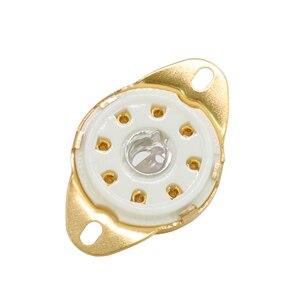 Image 3 - GD PARTS Tin Mạ Vàng 8pin B8G Loctal Gốm ổ cắm Ống cho 5B254 4P1S 7N7 C3G Dưới Chassis Núi Cổ Điển Khuếch Đại TỰ LÀM