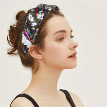 2019 Fashion Headband Double-Sided Sequin Multi-Color Hair Band