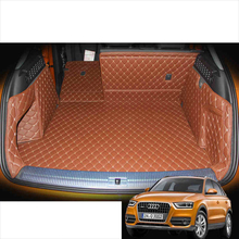 Lsrtw2017 Leather Car Trunk Mat Cargo Liner for Audi Q3 2011 2012 2013 2014 2015 2016 2017 2018 Rug Carpet Interior Accessories