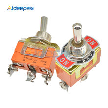 E-TEN1122 Toggle Switch 3 Terminal On-Off-On 3 Posisi 3 Pin Swithes 250V 15A AC dengan 12 Mm Tahan Air Switch Caps Orange(China)