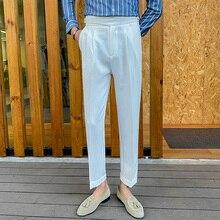 High Quality Men Dress Pant British Style Slim Fit Suit Pants Men Formal Wear Business Office Trousers Men Solid Color Pants