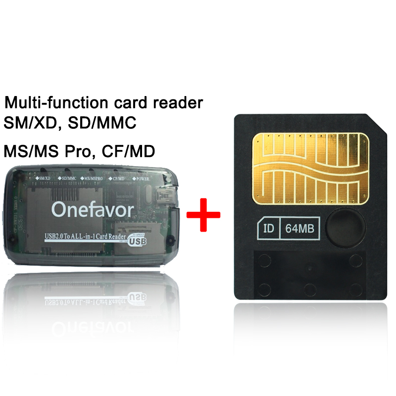 Big Promotion128MB 64MB 32MB 16MB 8MB 3.3V 3V SmartMedia Card SM Memory Card Smart Media Card+SD XD MMC CF SM Memory Card Reader