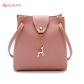 RIEZMAN Vintage Small Women Bucket Bag For Handbags Women PU Leather Shoulder Bags Girls Drawstring Messenger Crossbody Bag zmqn women messenger bags famous brand 2018 vintage retro women crossbody bag small pu leather handbags for women splicing a523