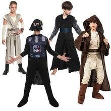 Мальчики Звездные ролевые войны Вейдер игровые костюмы дети Анакин плащ с капюшоном костюмы для девочек серый Косплей комплект Штурмовик
