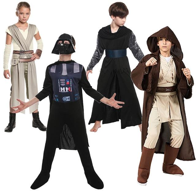 בני כוכב תפקיד מלחמת ויידר משחק תחפושות ילדי אנקין סלעית גלימת חליפות בנות גריי קוספליי סט סטורם טרופר בגדי אביר