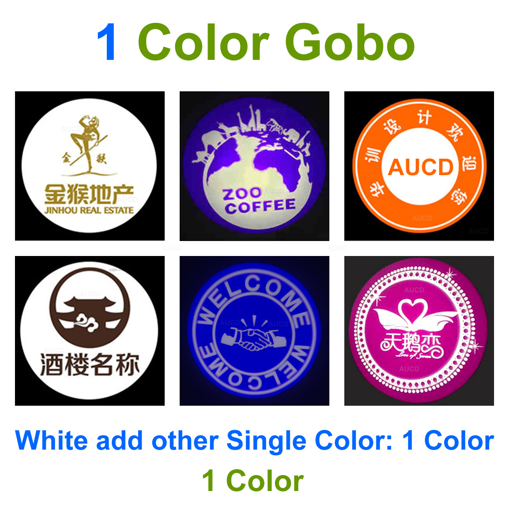 Customized Colorful AD Logo Gobos HD Glass Patterns Card Lens For 30W 50W LED Advertising Projector Lights