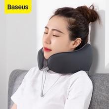 Baseus reposacabezas de coche, almohada en forma de U de espuma viscoelástica, soporte para la cabeza, funda para asiento de coche, cojín para el cuello