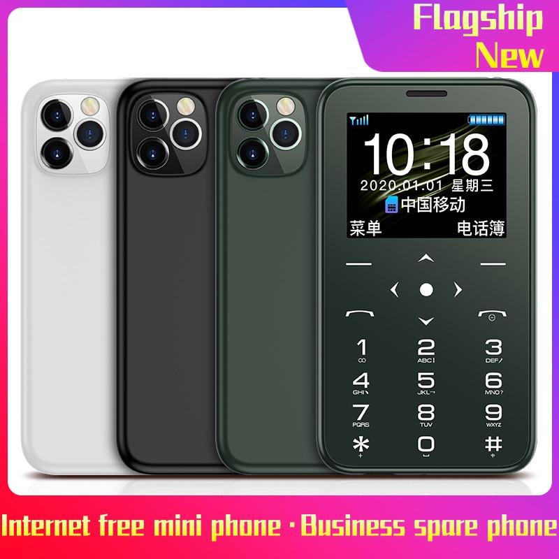 SOYES-teléfono móvil S7 Mini con tarjeta, 400mAh, ultrafino, portátil, para estudiantes, con respaldo