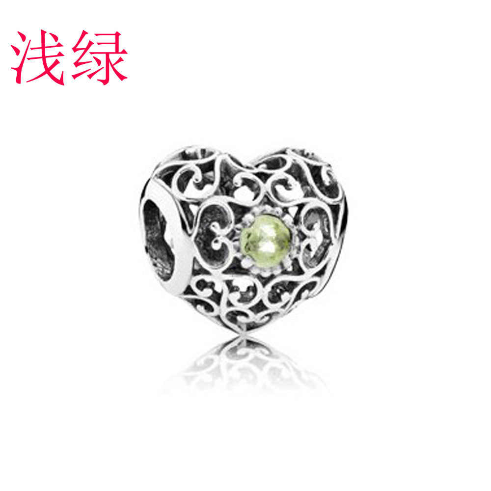 2pcs/lot love two-color bow charm DIY beads with Point drill drop oil Fit Original Pandora bracelet Women style jewelry