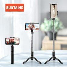 3 ב 1 אלחוטי bluetooth Selfie מקל מיני חצובה להארכה מתקפל אוניברסלי כף יד עבור iPhone 11 X סמסונג Xiaomi Huawei