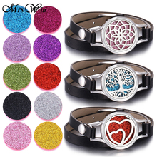 New Aromatherapy Essential Oil Diffuser Bracelet 316L Stainless Steel Locket Leather Bracelet for Women Aroma Diffuser Jewelry new summer kid adjustable mosquito repellent bracelet essential oil diffuser bracelet children men women aroma silicone bracelet