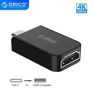 Image 1 - ORICO USB tipo C a HDMI compatible con convertidores de 4K a 30Hz/60Hz tipo C USB 3,1 adaptador conector Audio Video Extender para PC/teléfono/TV