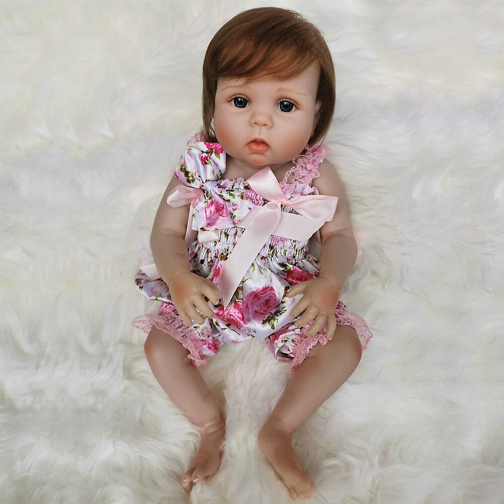 OtardDolls Bebe bebé Reborn muñeca 20 pulgadas 50cm completo de silicona vinilo bebé Reborn muñecas Adorable realista Niño para regalo Fast Shi