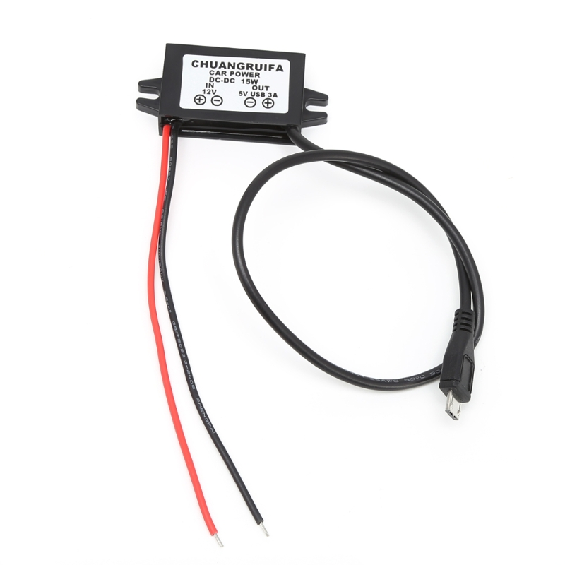 Car Charge DC Converter Module <font><b>12V</b></font> To 5V Micro USB Output Power <font><b>Adapter</b></font> <font><b>3A</b></font> 15W Drop Ship Support image