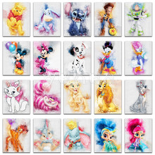 5D Diamond painting Cartoon Mickey mouse Winnie Pooh cat animal Full Square embroidery Cross stitch Round mosaic