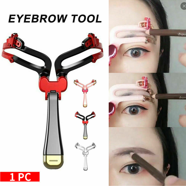Template Tool Foldable Adjustable Eyebrow Shapes Stencils Portable Styling Gift Makeup Model DIY Women Shaping Cosmetic 4