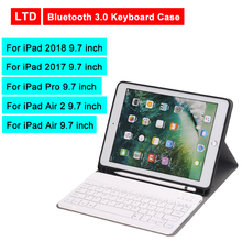 Bluetooth 3.0 Tablet Keyboard Case For iPad 2018/iPad 2017/iPad Pro/Air 2/Air 9.7 inch Flip Leather Cover For Apple Mediapad цена и фото