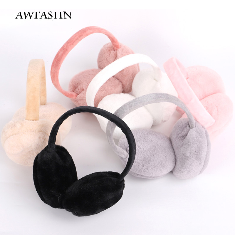 2019 Adult New Winter Solid Color Earmuffs Men And Women Couples Protection Ear Warm Plush Girl Student Mother Girl Earmuffs Cut