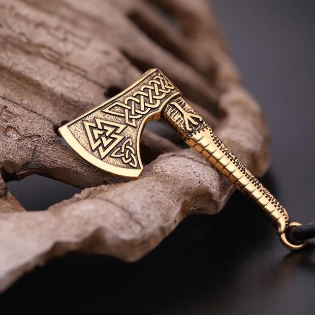 Bracelet slavonique Viking hache 5