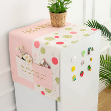 Nordic Ins Small Fresh Printing Dust Cover Washing Machine Refrigerator Waterproof Cover Cloth Microwave Oven Oil Cover Towel