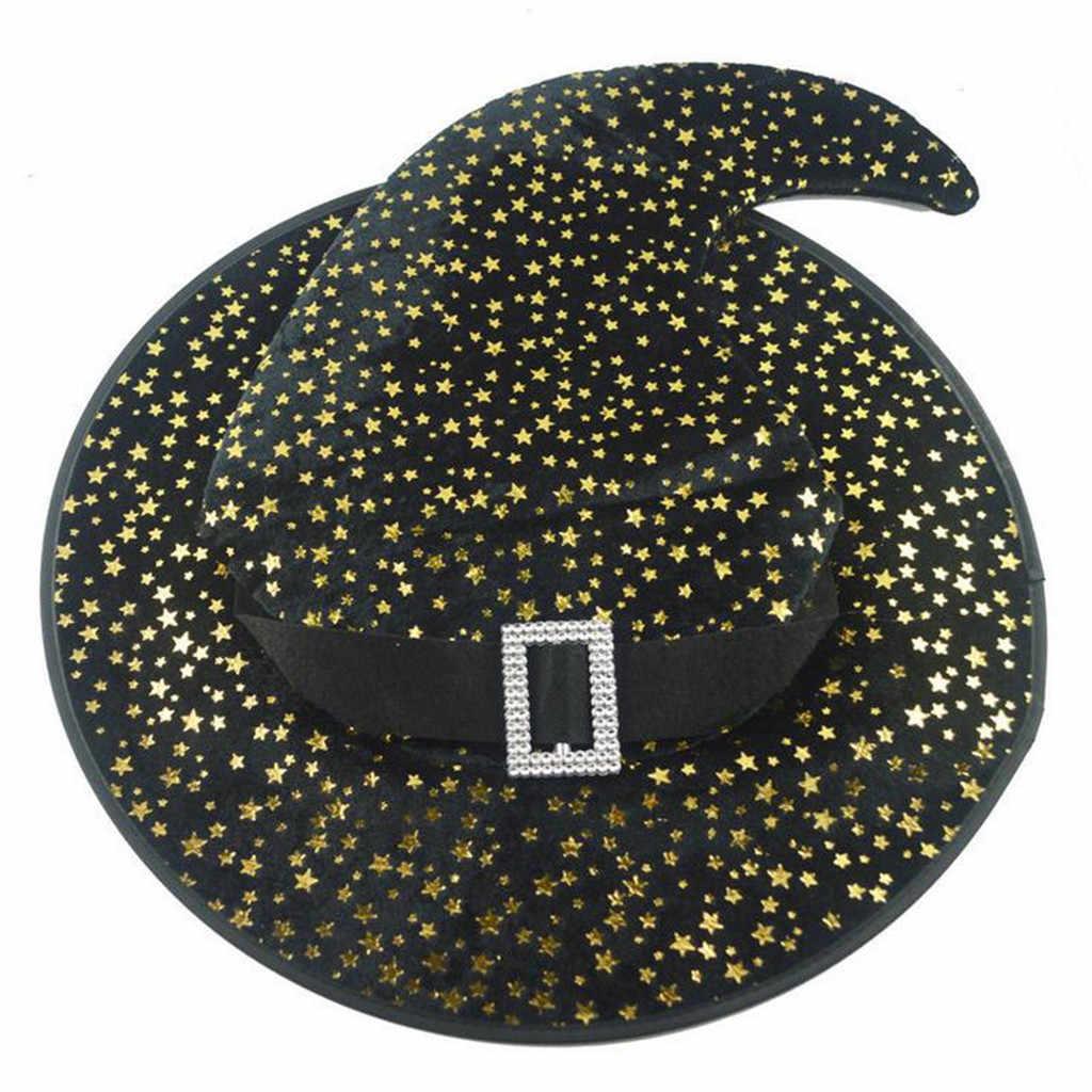 Взрослый Хэллоуин ведьмы шляпа голова для карнавального костюма-одежда принадлежности для костюмированной вечеринки шляпа czapka zimowa gorro sombrero mujer Женская шляпа