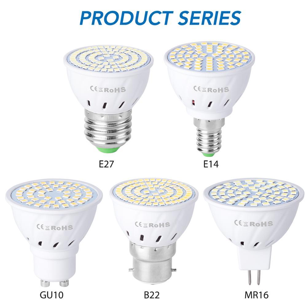 10PCS GU10 Led Bulbs 220V E27 LED Lamp E14 Spotlight GU5.3 Ampoule B22 Spot Light 48 60 80leds Corn Bulb Gu10 Bombillas SMD 2835