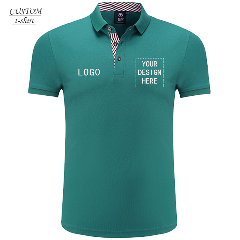 Personalised Polo Top Embroidered  Work Uniform Workwear Event Custom Text logo