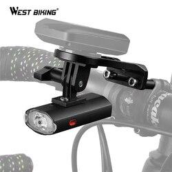 Światło rowerowe WEST BIKING z uchwytem GoPro do komputera Garmin Bryton USB akumulator wodoodporny latarka rowerowa 300 lm