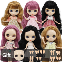 Factory Blyth doll White Skin Glossy face Joint body with hand set A&B 1/6 fashion doll suitable diy makeup Special price